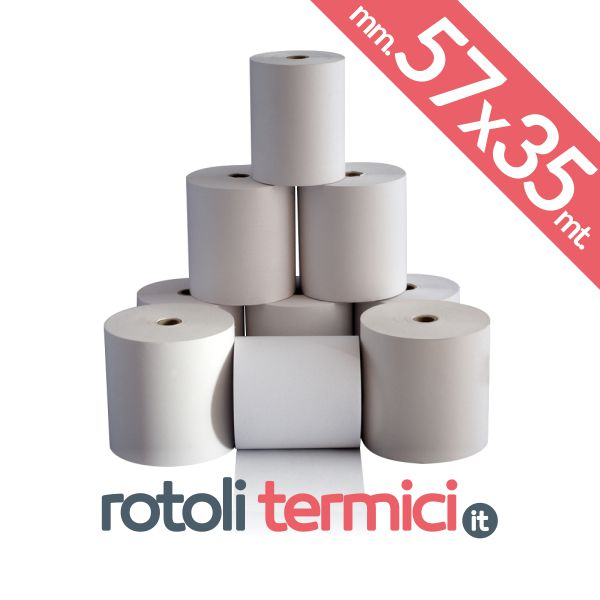 rotoli carta termica 57mm