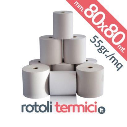 rotoli carta termica 80x80